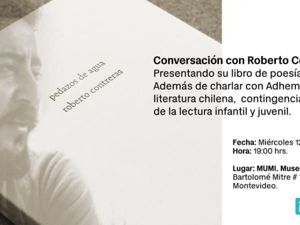 """Lanzamiento del Libro de poesía """"Pedazos de agua"""" del escritor chileno Roberto Contreras"""